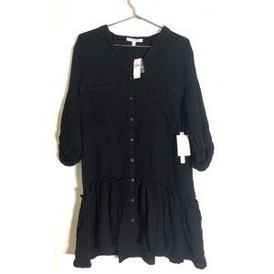 Anthropologie Black Shirt Dress